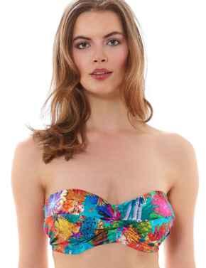 Freya Swimwear Under The Sea 3929 Twist Bandeau Strapless Bikini Top - Reef