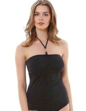 Freya Swimwear Sagittarius 3892 Underwired Bandeau Tankini Top  - Black