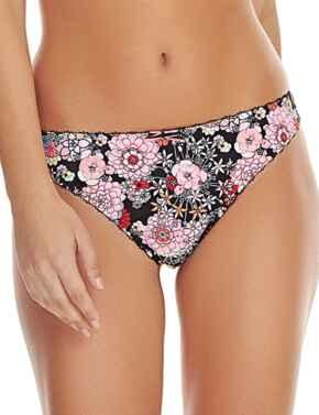 Freya Lingerie Retro Bloom 1457 Thong Knickers Underwear - Black