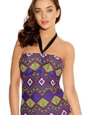 Freya Swimwear Byzantine 3085 Underwired Bandeau Tankini Top - Neo