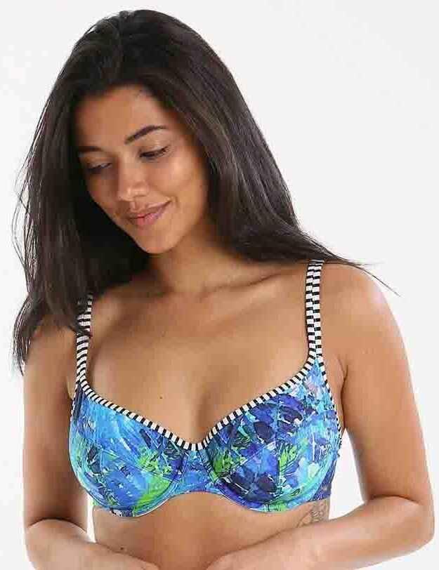 99c36d5166 Panache Swimwear Elle SW0872 Balcony Bikini Top - Palm Print