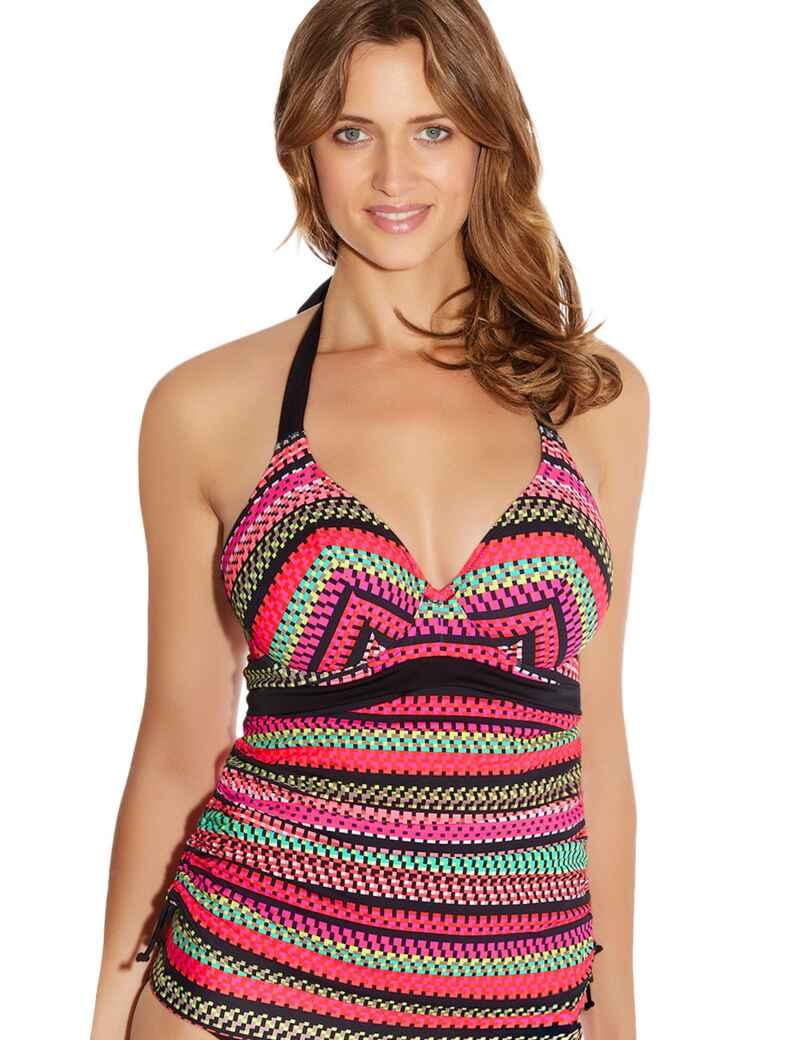 a00c7c3b900bf Fantasie Swimwear Paphos 6084 Underwired Halterneck Tankini Top - Paradise  Multi