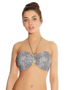 Freya Swimwear Pure Shores 3800 Underwired Padded Bandeau Bikini Top - White Sands