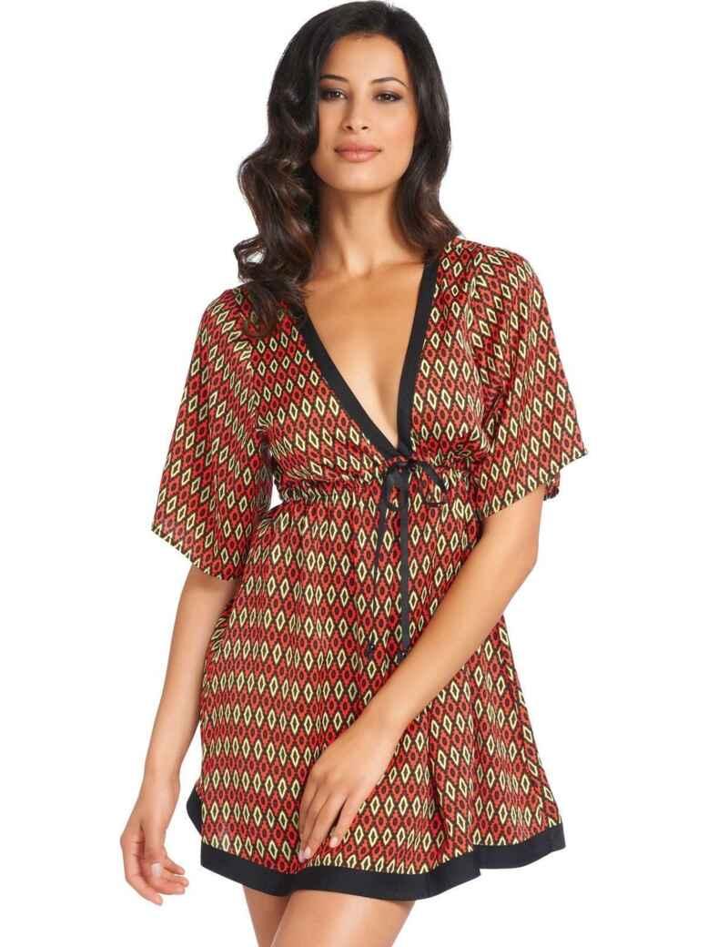 48dcb333a4e93 Fantasie Swimwear Santa Rosa 5455 Kaftan Beach Cover Up Dress Print -  Multi. £59.00. Fantasie 5822 San Juan Kaftan Cover Up Aztec Print - Black
