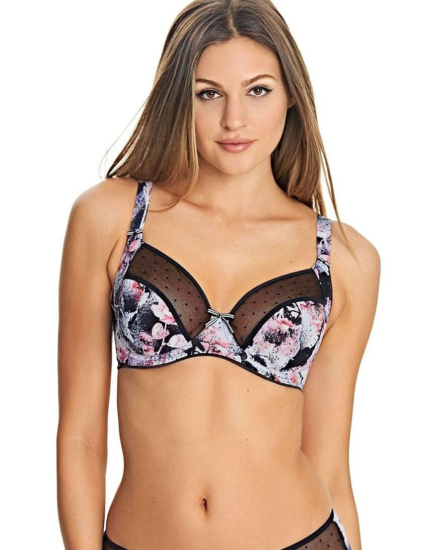 Freya Lingerie Sweet Illusion Underwired Side Support Bra  - Onyx Black