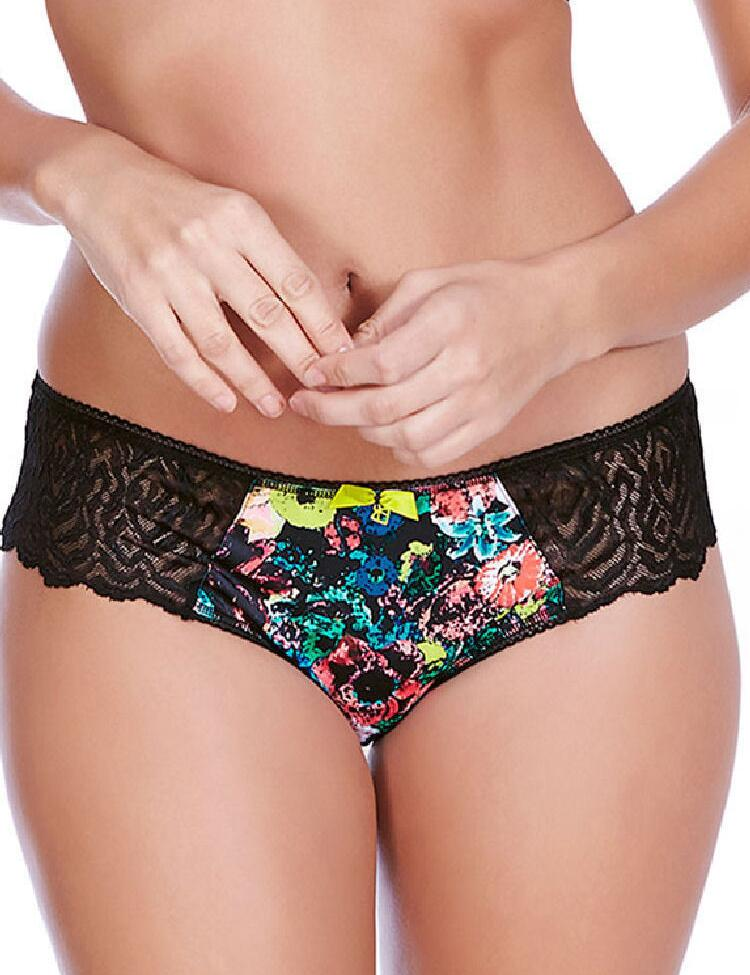 Freya Lingerie Popart Brief 5005 Womens Knickers  - Black Mix