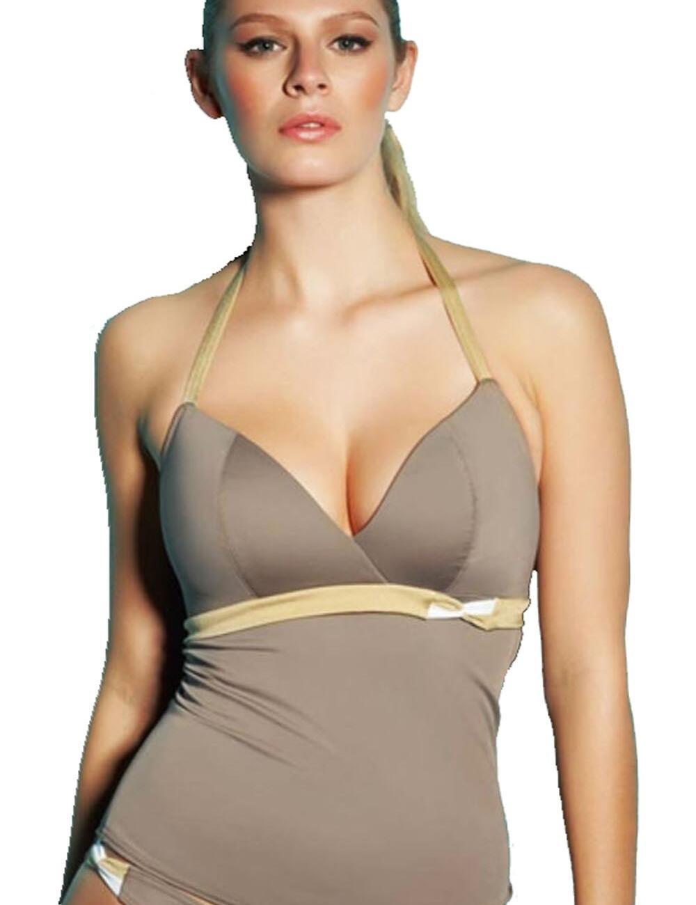 Freya Swimwear Coco De Ville 3233 Triangle Tankini Top - Brulee