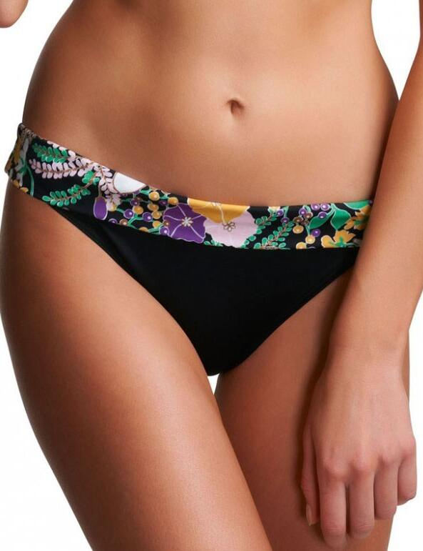 Freya Swimwear Adelphi 3456 Classic Fold Bikini Brief Bottoms - Black