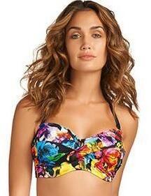 e80f645a1b3e1 Fantasie Swimwear Santa Rosa 5461 Underwired Twist Bandeau Bikini Top -  Multi