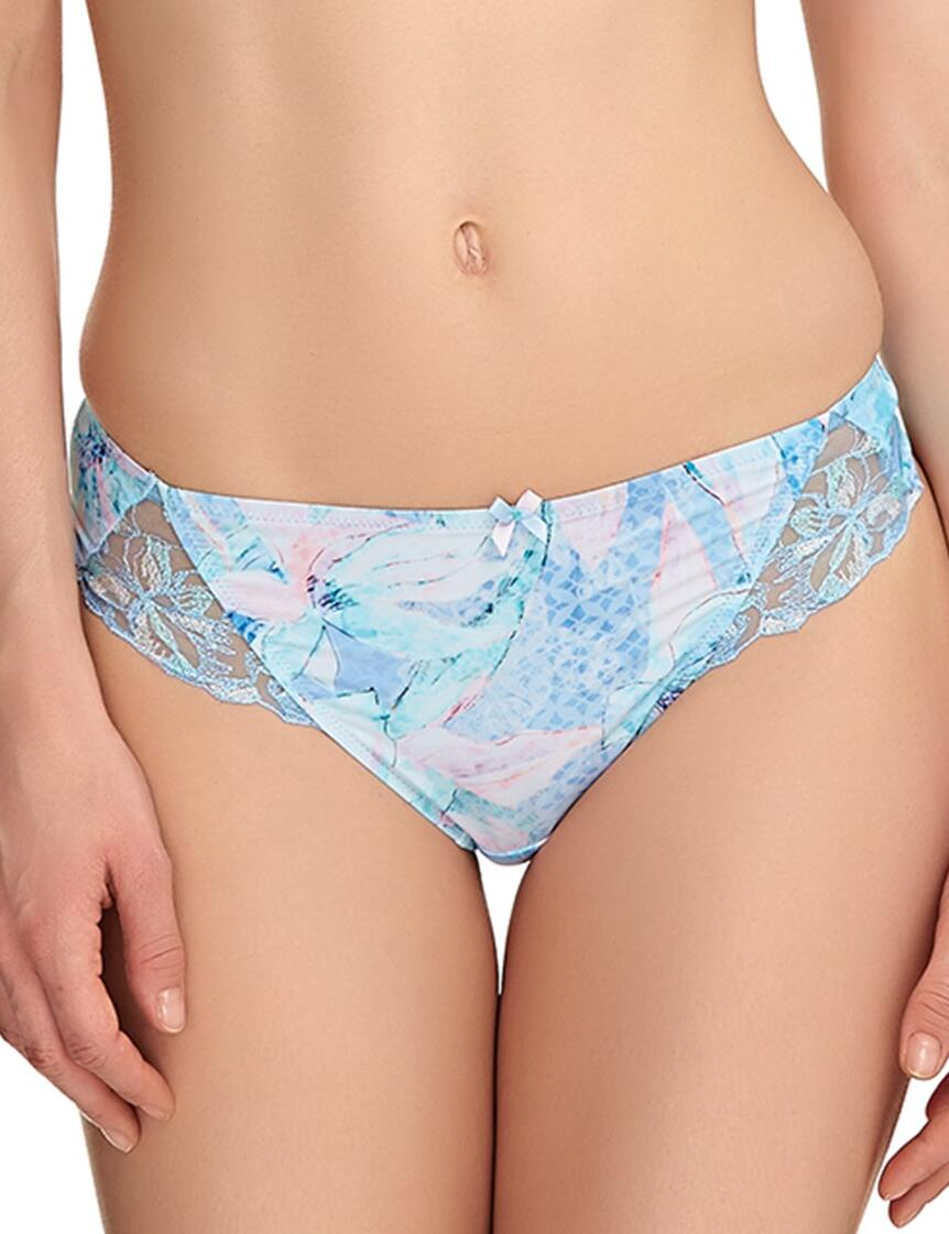 Fantasie Lingerie Eloise 9127 Thong Knickers Pant In Ice Blue - Ice Blue
