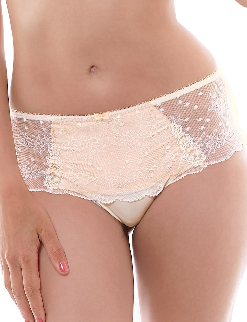 Fantasie Lingerie Ivana 9027 Deep Thong Knickers In Oyster - Oyster