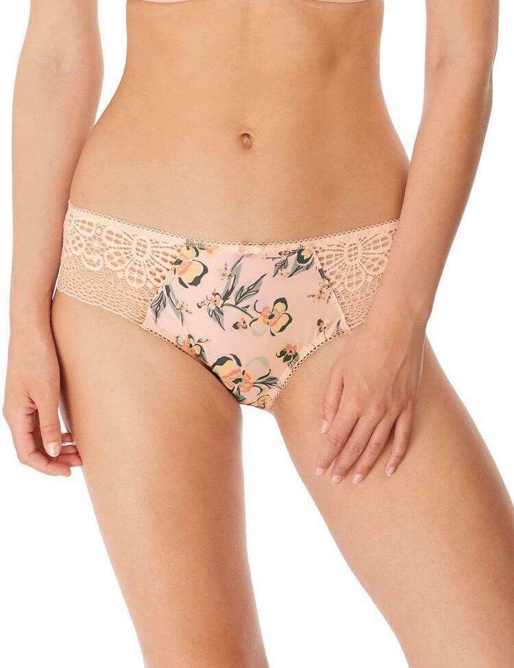 Freya Lingerie Erin Brazillian Brief 3235 Knickers Rosewater Floral Lace