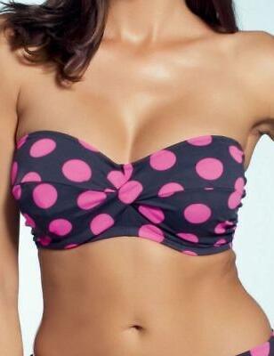 Fantasie Swimwear Ibiza Bandeau Bikini Top 5375 5376 Black Pink