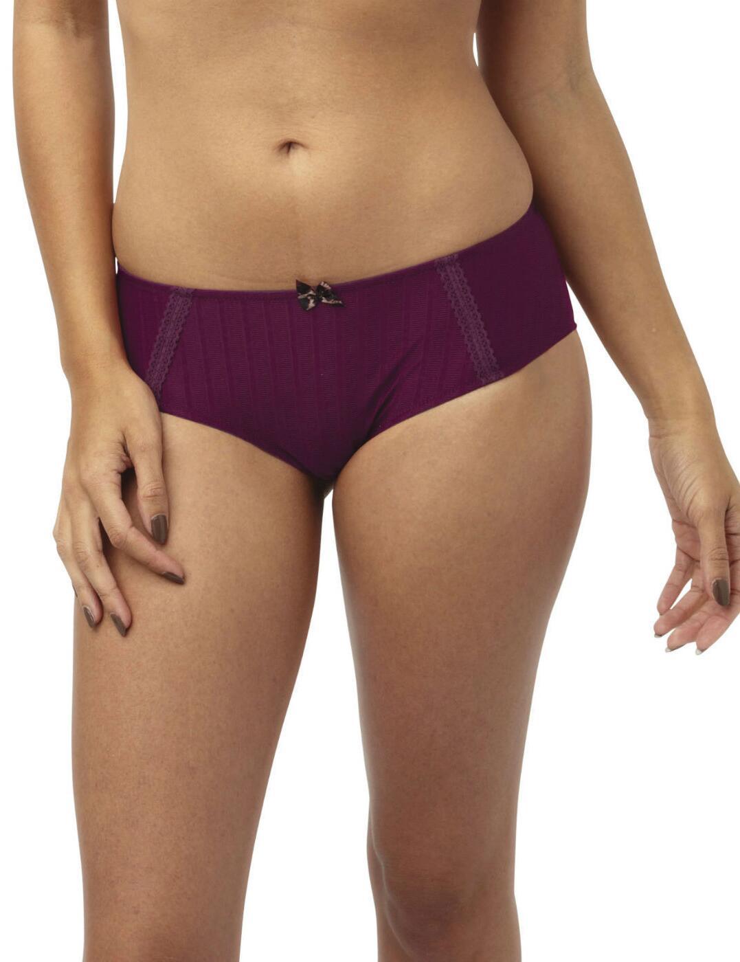 Cleo by Panache Maddie Brief Knickers - Burgundy Purple