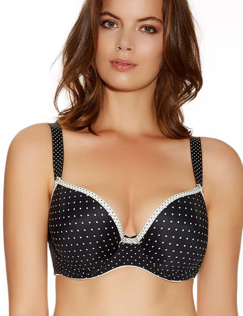 Freya Lingerie Deco Spotlight 1554 Underwired Moulded Padded Plunge Bra - Black