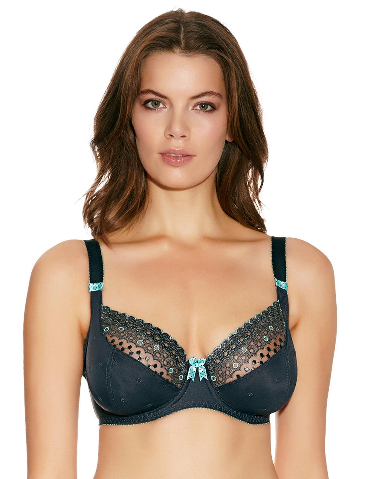 Freya Lingerie Enchanted 1571 Underwired Plunge Balcony Bra - Grey Anthracite
