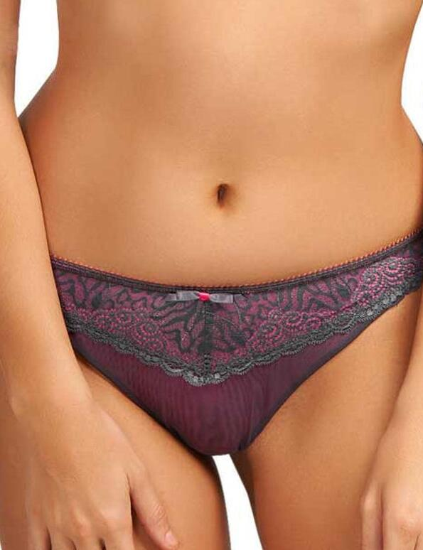Freya Lingerie Icon Thong Knickers in Storm Grey - Storm Grey