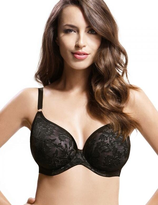 Panache Lingerie Idina 6966 Underwired Plunge Moulded T-shirt bra - Black