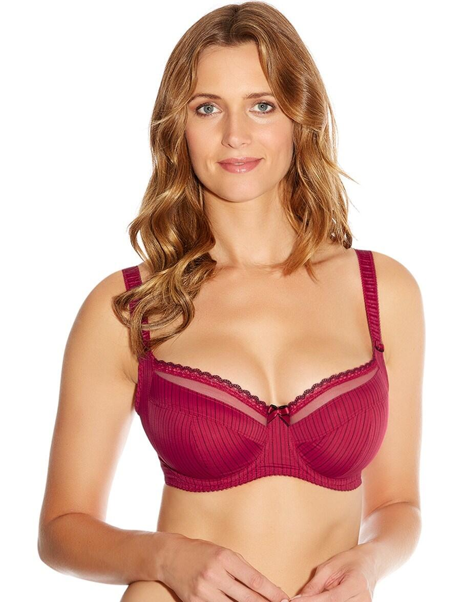 Fantasie Lingerie Lois 2972 Underwired Non Padded Side Support Bra - Red