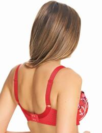 Freya Lingerie Carnival Fever 5101 Underwired Plunge Balcony Bra In Rouge - Rouge