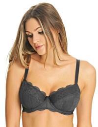 Freya Lingerie Fancies Underwired Padded Half Cup Bra 1013 Underwear - Graphite