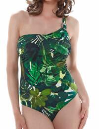 Fantasie Swimwear Kuranda Underwired Asymmetric Swimsuit Deep Jungle 6130 - Deep Jungle