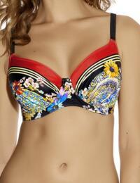 Fantasie Swimwear Lascari 6013 Full Cup Bikini Top Multi print New Swim - Multi Print
