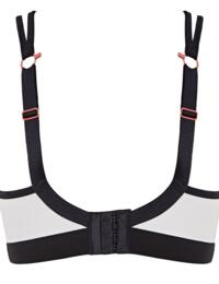 Panache Non Wired Moulded Cups Sports Bra 7341B Coral/Multi New Sportswear