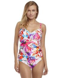 Fantasie Swimwear Paradise Bay Tankini Top 6482 Underwired Twist Front - Multi Print