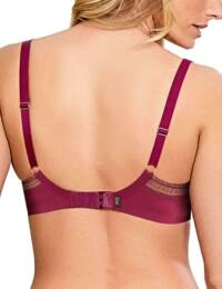 Panache Lingerie Aria 8086 Underwired Moulded plunge bra In Wine
