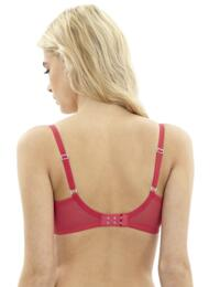 Cleo Lingerie Blake 9151 Underwired Moulded T-shirt Balcony Bra - Red