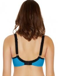 Freya Lingerie Deco Vibe 1704 Underwired Moulded Plunge Bra J Hook T-Shirt Bra - Electric Blue