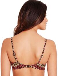 Fantasie San Juan Underwired Balcony Bikini Top 5816 And 5818 in Aztec Print - Black